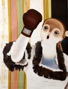 Homage to Edgar Degas' The Singer with Glove