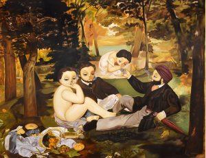 Homage to Edouard Manet's Dejeuner Sur L' Herbe