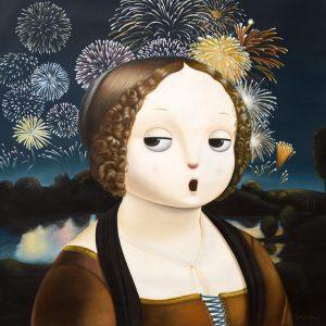 Homage to Leonardo da Vinci's Portrait of Ginevra de' Benci