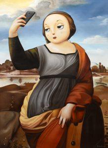 Homage to Raphael's Saint Catherine of Alexandria