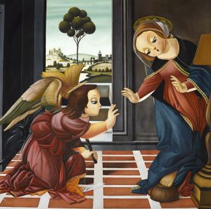 Homage to Sandro Botticelli's The Annunciation